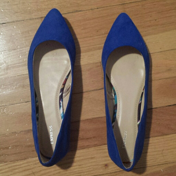 f2cf48345 Express Shoes | Brand New Royal Blue Pointed Toe Flats 9 | Poshmark