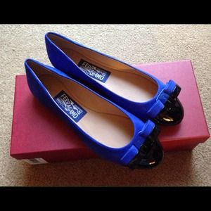 Ferragamo Shoes - NIB Ferragamo Varina Patent leather with suede