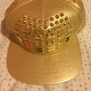 nicki minaj Accessories - 🎉SALE🎉Nicki minaj gold studded hat 21a8aa9a933