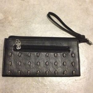 Black Skull Wallet/clutch