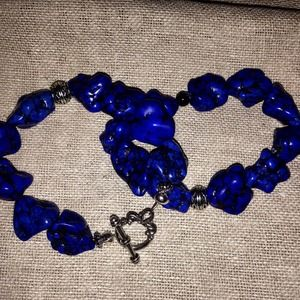 Jewelry - Heavy turquoise toggle and stretch.bracelets