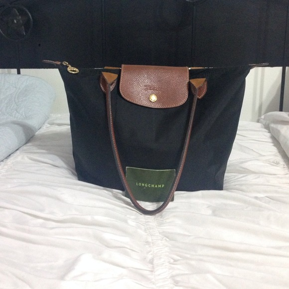 Longchamp Bags Le Pliage Black Medium Tote Poshmark