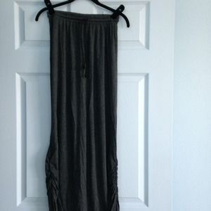 Jersey maxi skirt - charcoal grey