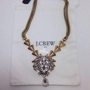 J.Crew Crystal Chevron Necklace