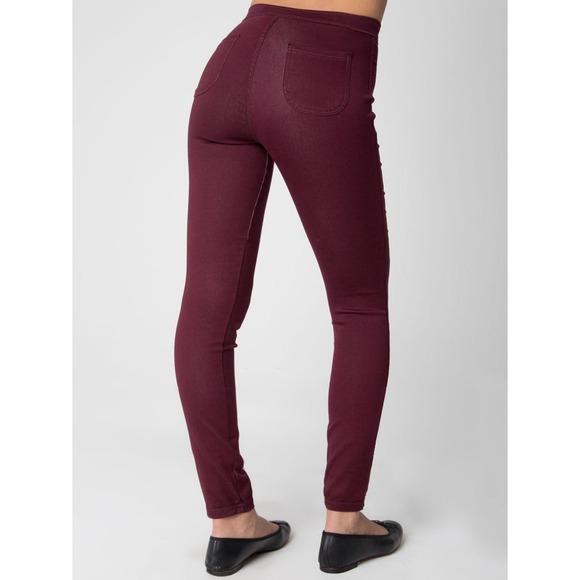 55% off American Apparel Pants - American Apparel Maroon high ...