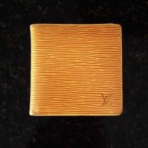 Authentic Vintage Louis Vuitton Epi Yellow Wallet