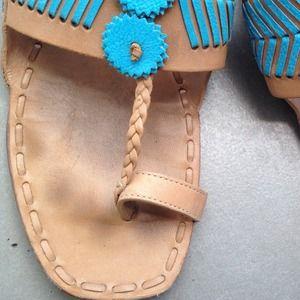 324b16c1032fdf Tory Burch Shoes - Tory Burch Caylan Toe Ring Flat Sandals