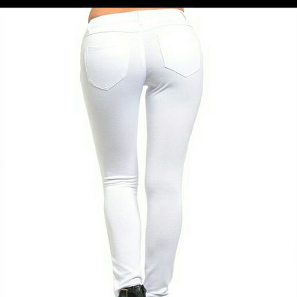 73% off Pants - ☆AVAILABLE ☆ NWT White Stretch Knit Pants from ...