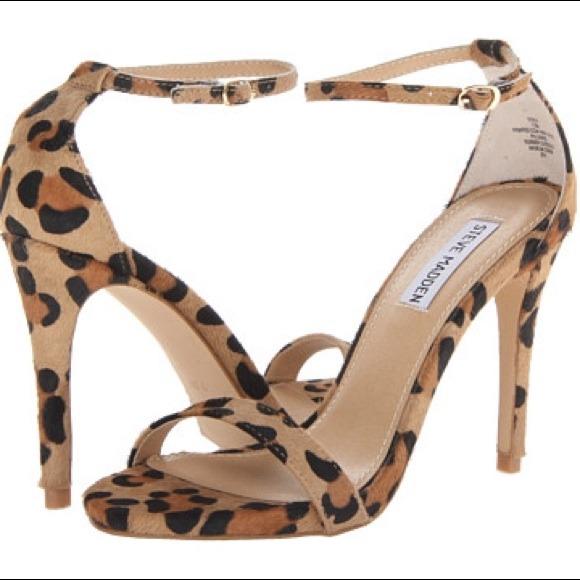 d3ff3be0878 Steve Madden Stecy Leopard heeled Sandal. M 53c34760fab836134f15f1a7