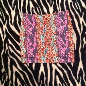 High- waisted Cheetah Mini Skirt