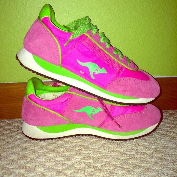 Kangaroos Shoes Hot Pink Lime Green Kangaroo Roos Poshmark