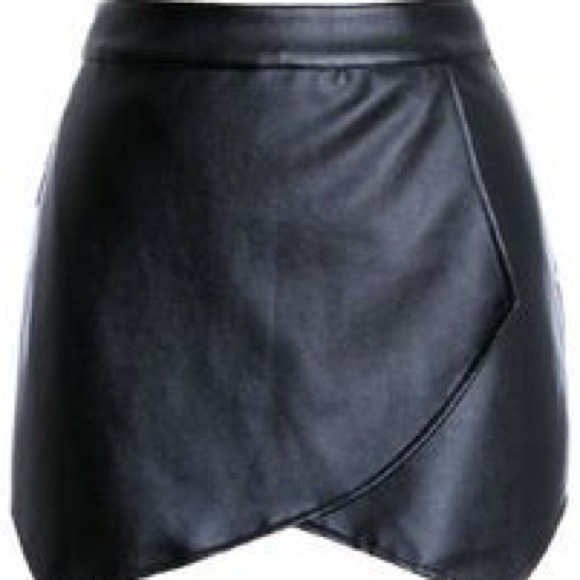 40% off Dresses & Skirts - Faux Leather Envelope Skirt - Black ...