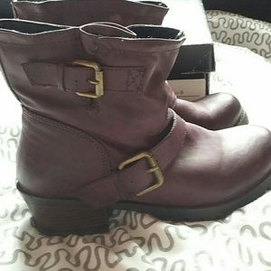 Eggplant JustFab boots
