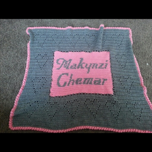 32% off Other - Personalized crochet baby blanket from ...