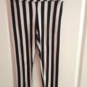 Brandy melville striped leggings