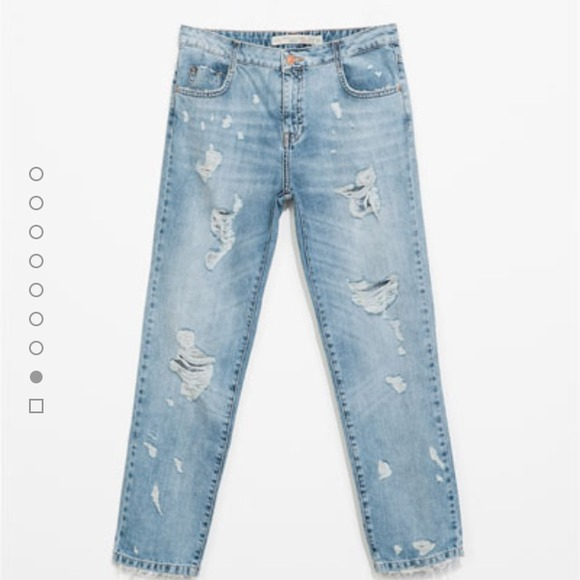 33% off Zara Denim  Zara Ripped Boyfriend Jeans from