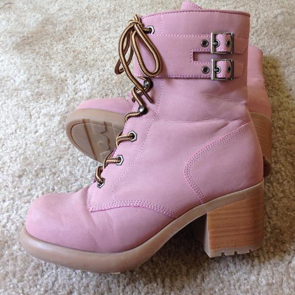 53% off Colin Stuart Boots - Colin Stuart pink combat boots from ...