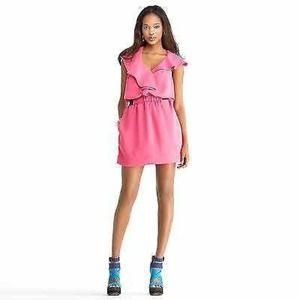 Rachel Roy Asymmetric Flounce Dress