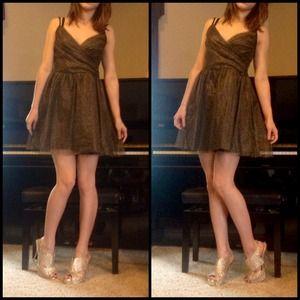 Gold Glitter Party Dress