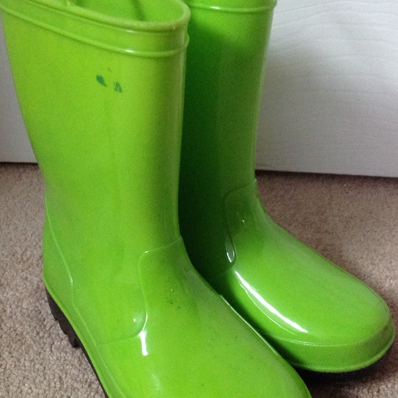 Reduced Little Girls Lime Green Rain Boots 1 from Jennifer's ...