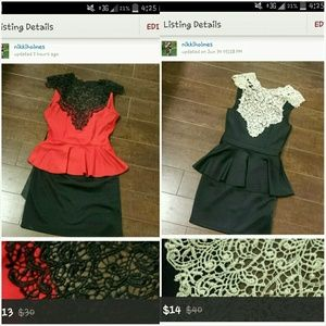Peplum dress bundle
