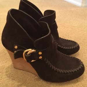 Tory Burch Brown Suede Booties
