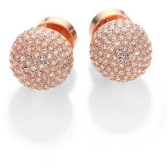 Buy rose gold michael kors earrings OFF61 Discounted