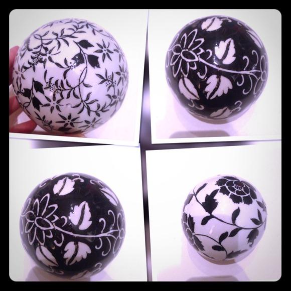 Other Home Decor Black White Decorative Balls Nwt Poshmark