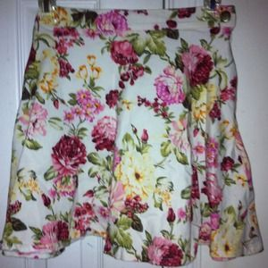 Missguided floral skater skirt