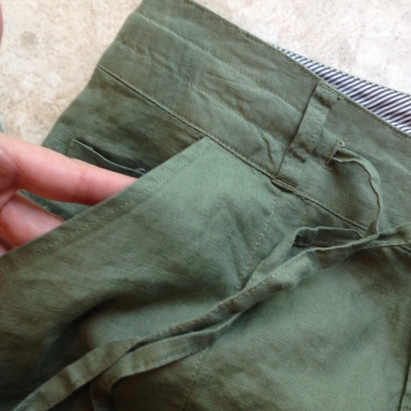 ❌Sold in a Bundle❌Olive Green Linen Pants L from Louise ...