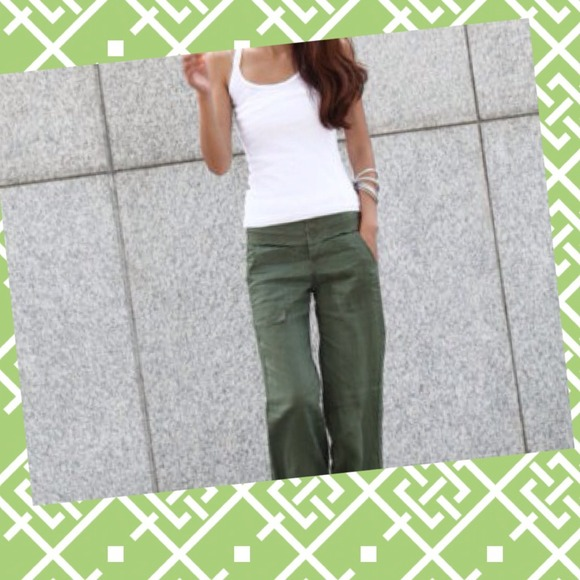 ❌Sold in a Bundle❌Olive Green Linen Pants L from Southernchic99 ...