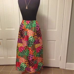 Psychedelic Quilted Maxi Skirt VINTAGE