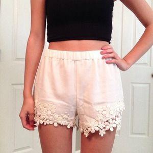 NWT White Shorts