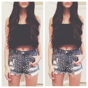 NWT Studded Shorts