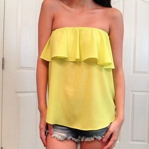 Tops - NWT Lime Green Tube Top