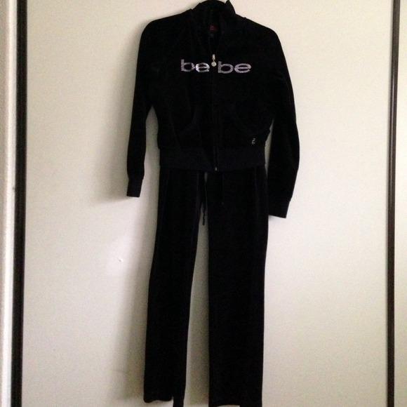 6d36da0f9dc bebe Other | Black Sweat Suit Size L | Poshmark