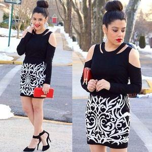 Black & White Print Skirt