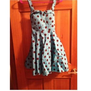 Dresses & Skirts - Vintagey retro style polka dot sundress