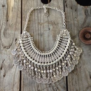 St. Eve jewelry Jewelry - Silver bohemian bib necklace 2