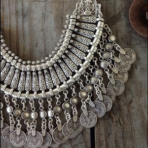 St. Eve jewelry Jewelry - Silver bohemian bib necklace 3