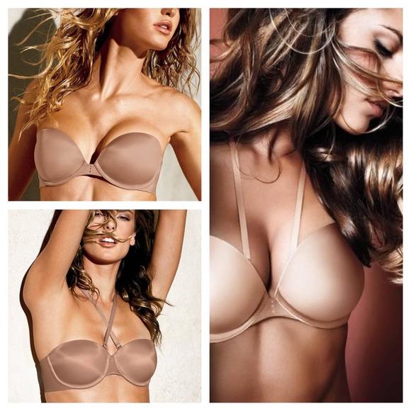 5fa1a77703 Pink Biofit Multiway Strapless Bra. M 53c53caa2d249051f623c19b. Other  Intimates   Sleepwears you may like. Victoria secret bra lot