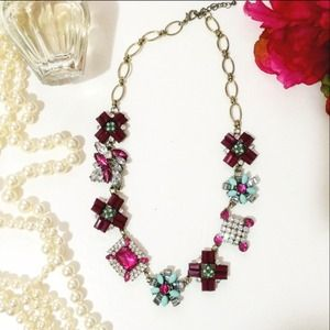 Brand New Color crystal crush Statement Necklace