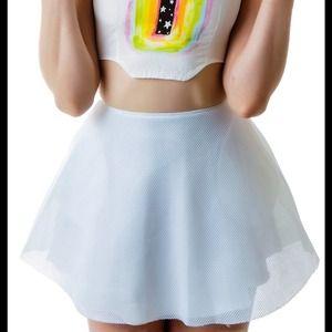 UNIF Skirts - Unif mesh scuba skirt
