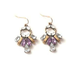 Brand New Violet statement earrings
