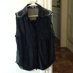 Foley & Corinna Sheer Sleeveless Blouse