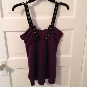 VS Moda International Purple Tank Top