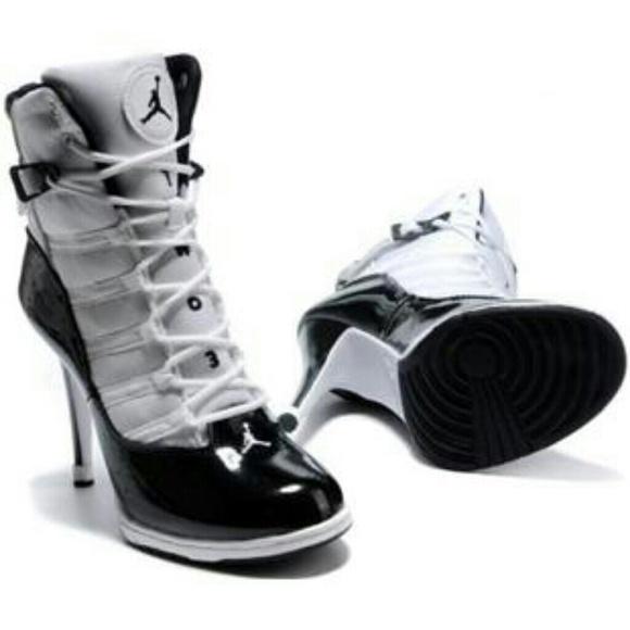 new style e9728 90e8e Jordan Shoes - Women Nike Air Jordan 6 rings high heels black and
