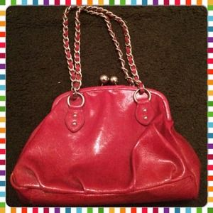 Nine West Vintage Style Red patent handbag
