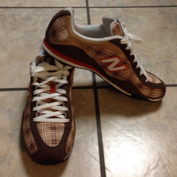 64% off New Balance Shoes - Brown and orange New Balance tennis ...