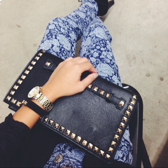 Clutches & Wallets - Studded clutch/purse